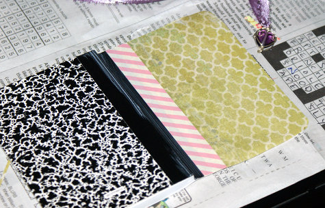 Mini Composition Book Decoupage DIY