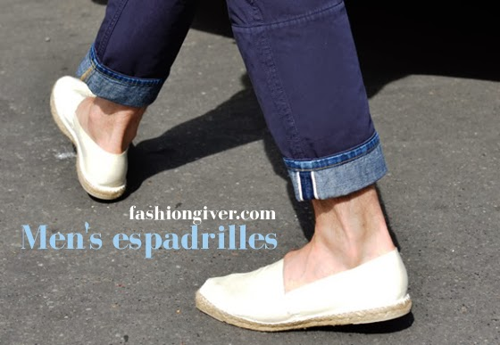Mens espadrilles Trendy male shoes to wear