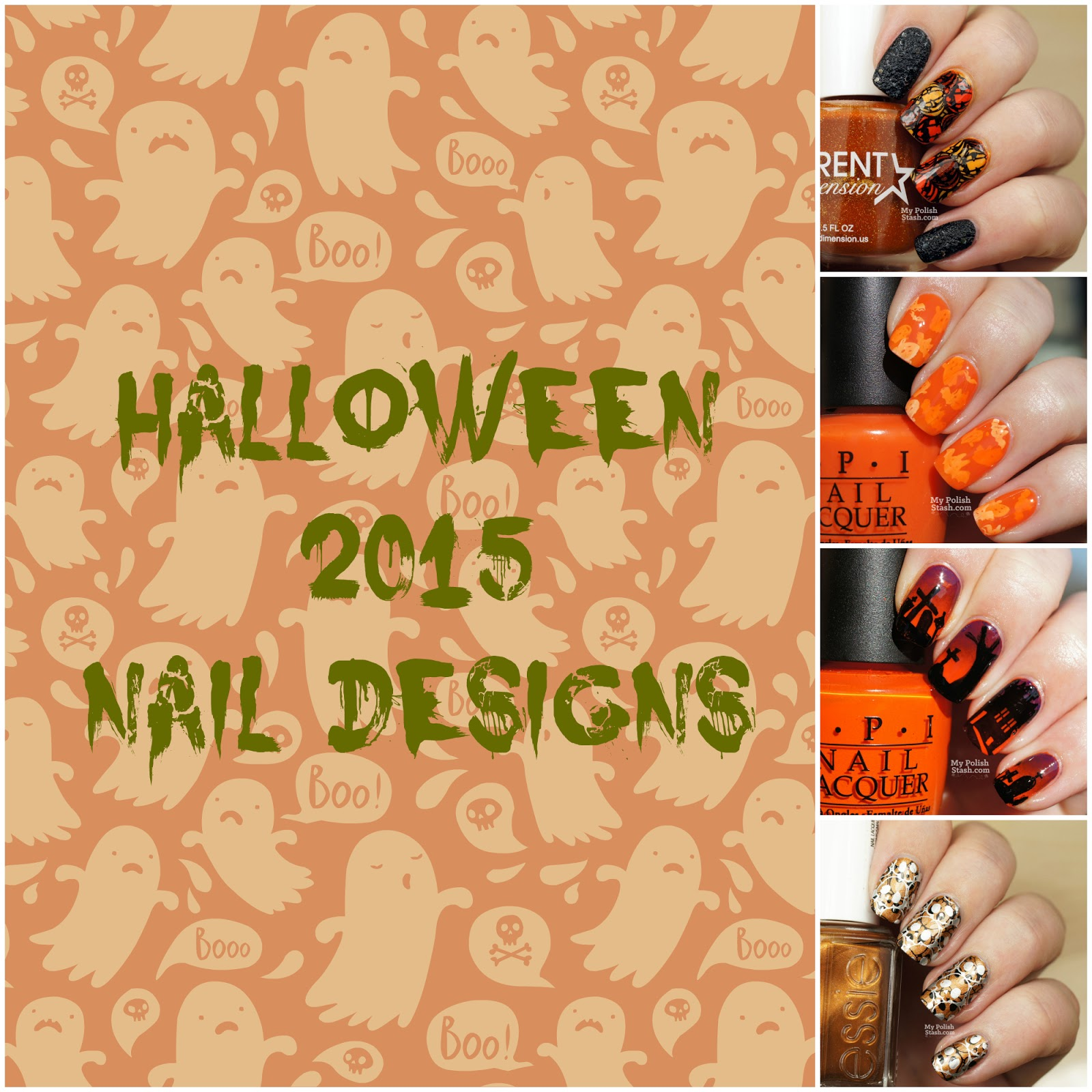 spooktober halloween nails