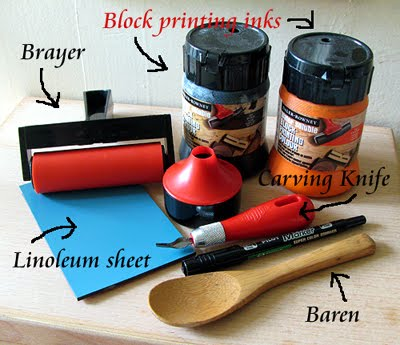 The Monster Blog Tools For Linocut