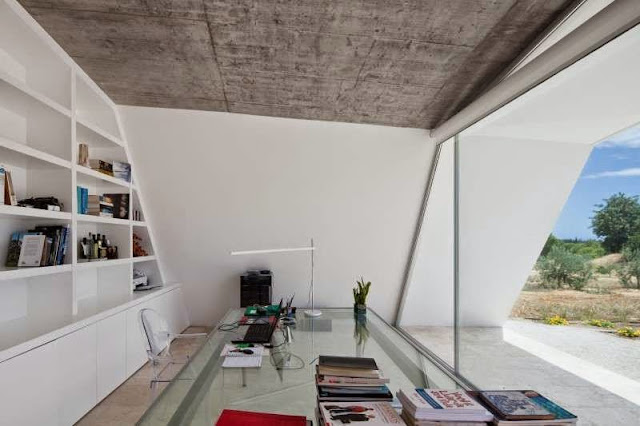 white office idea Modern House with Pool in Tavira