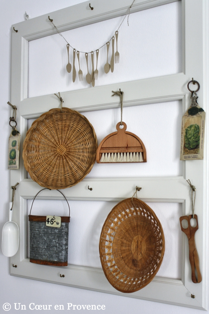 To hang up a few recent finds on my home-made utensil carrier