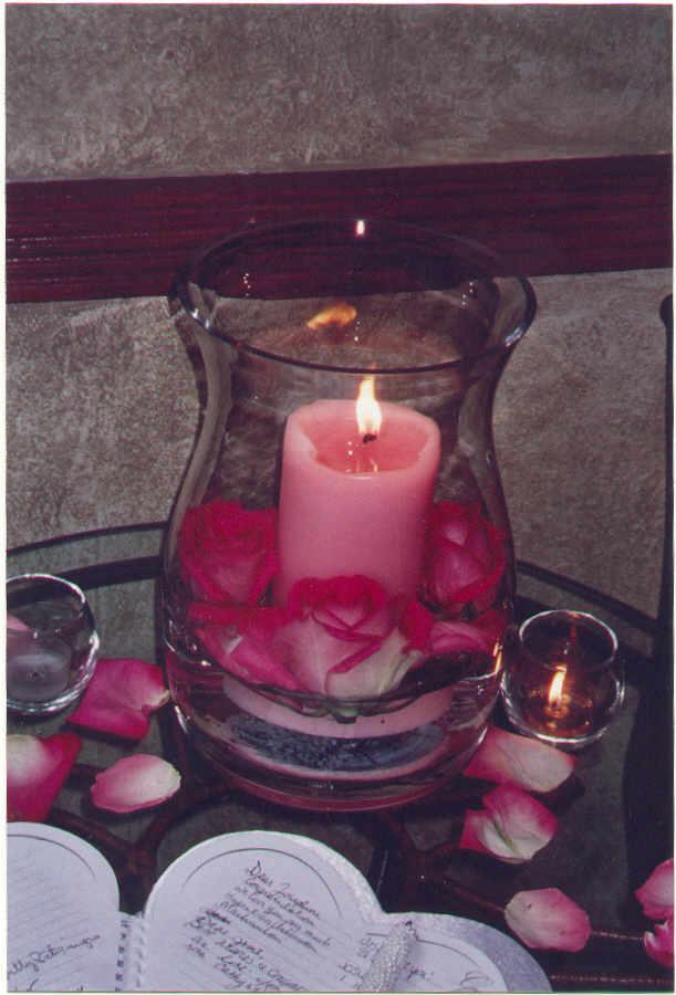 Hurricane centerpiece images candles
