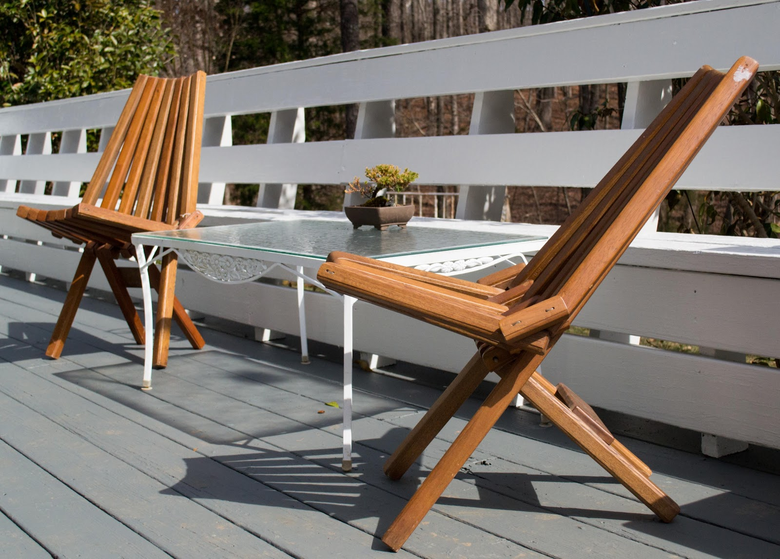 teak panamerican deck chairs