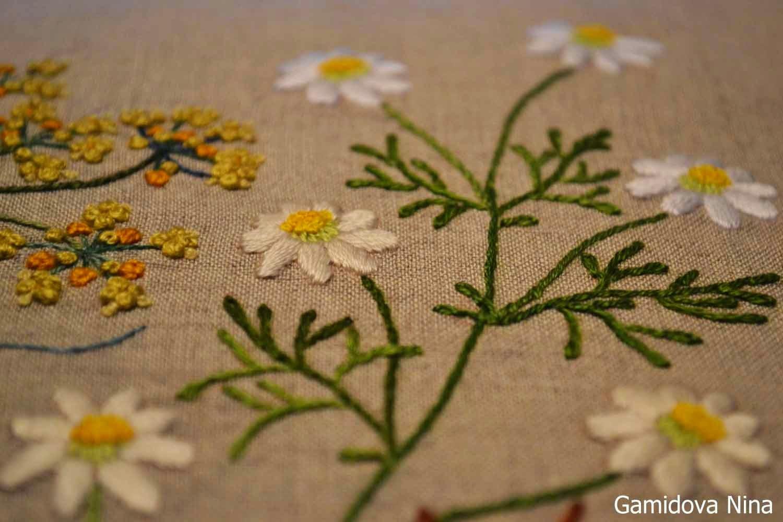Вышивка декоративными швами.