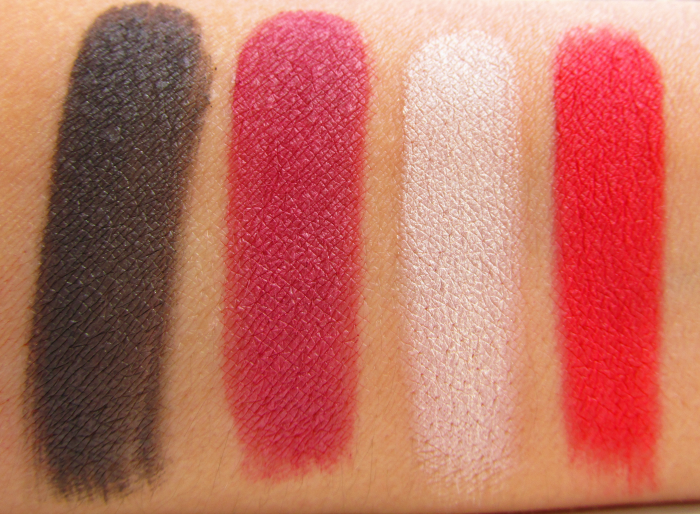 Swatches: Feucht Make up Factory Red Rebel Eyeshadow Quattro Trend Look 2015