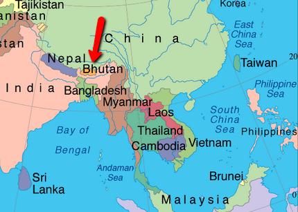 World Map Of Happiness Bhutan - Bhutan map