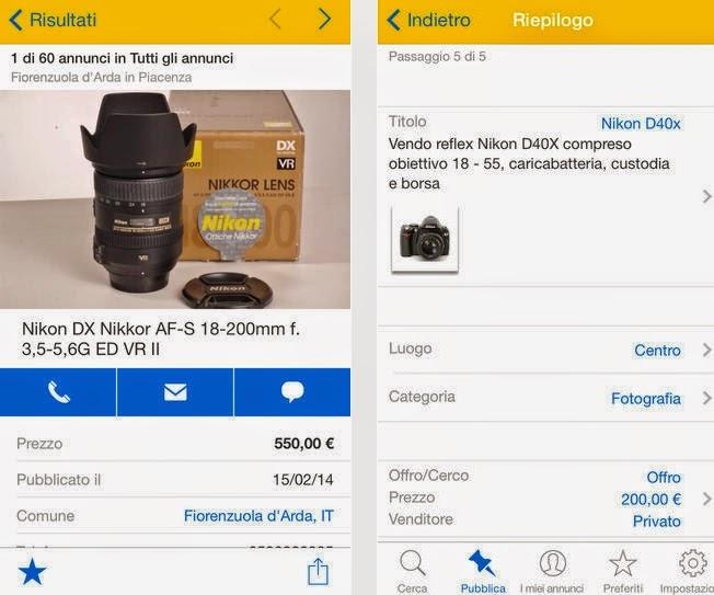 APPLICAZIONE EBAY ANNUNCI GRATIS DA USARE SU IPHONE ED IPAD IN ITALIANO
