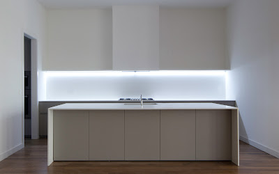 Minimal USA Glam Kitchen at 88 Franklin Street, NYC.