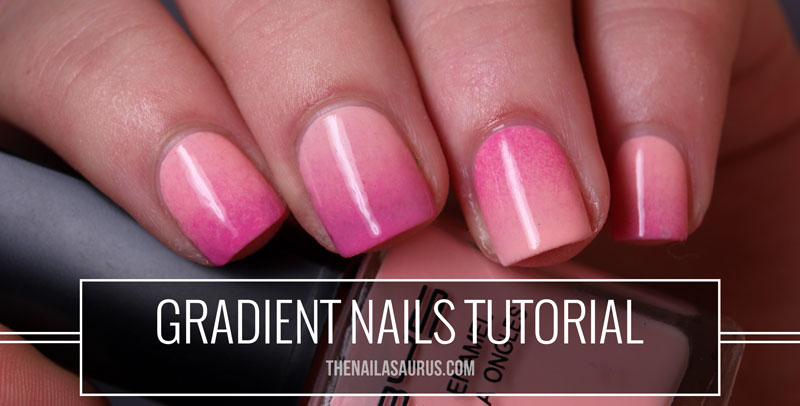 Gradient Nails Picture Tutorial The Nailasaurus Uk