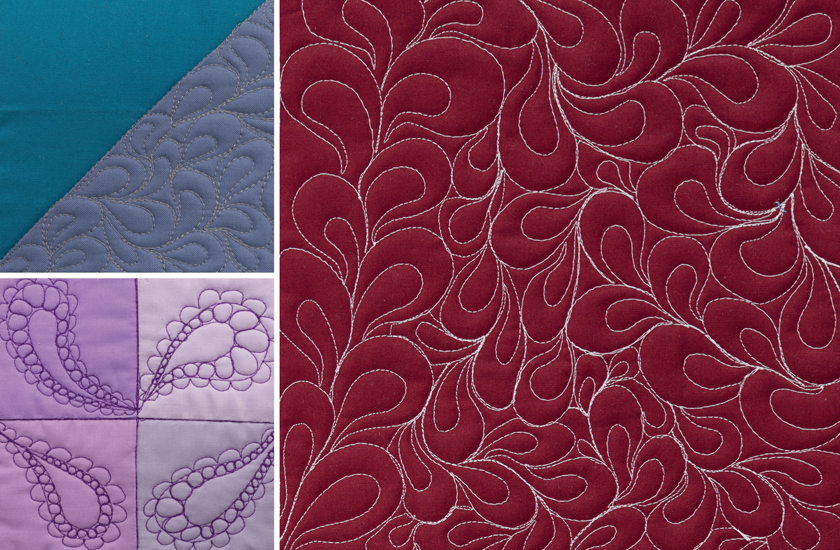 Paisley Free-motion quilting design