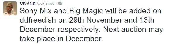 Sony Mix and Big Magic coming soon again on DD Freedish