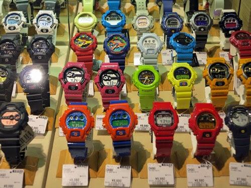 G-Shock Watches, Komehyo Osu Kannon Nagoya, Aichi Prefecture.