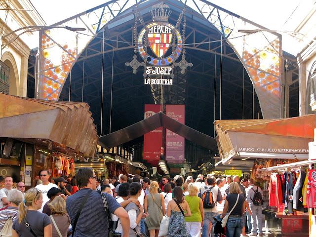 Mercat de la Boqueria em Barcelona