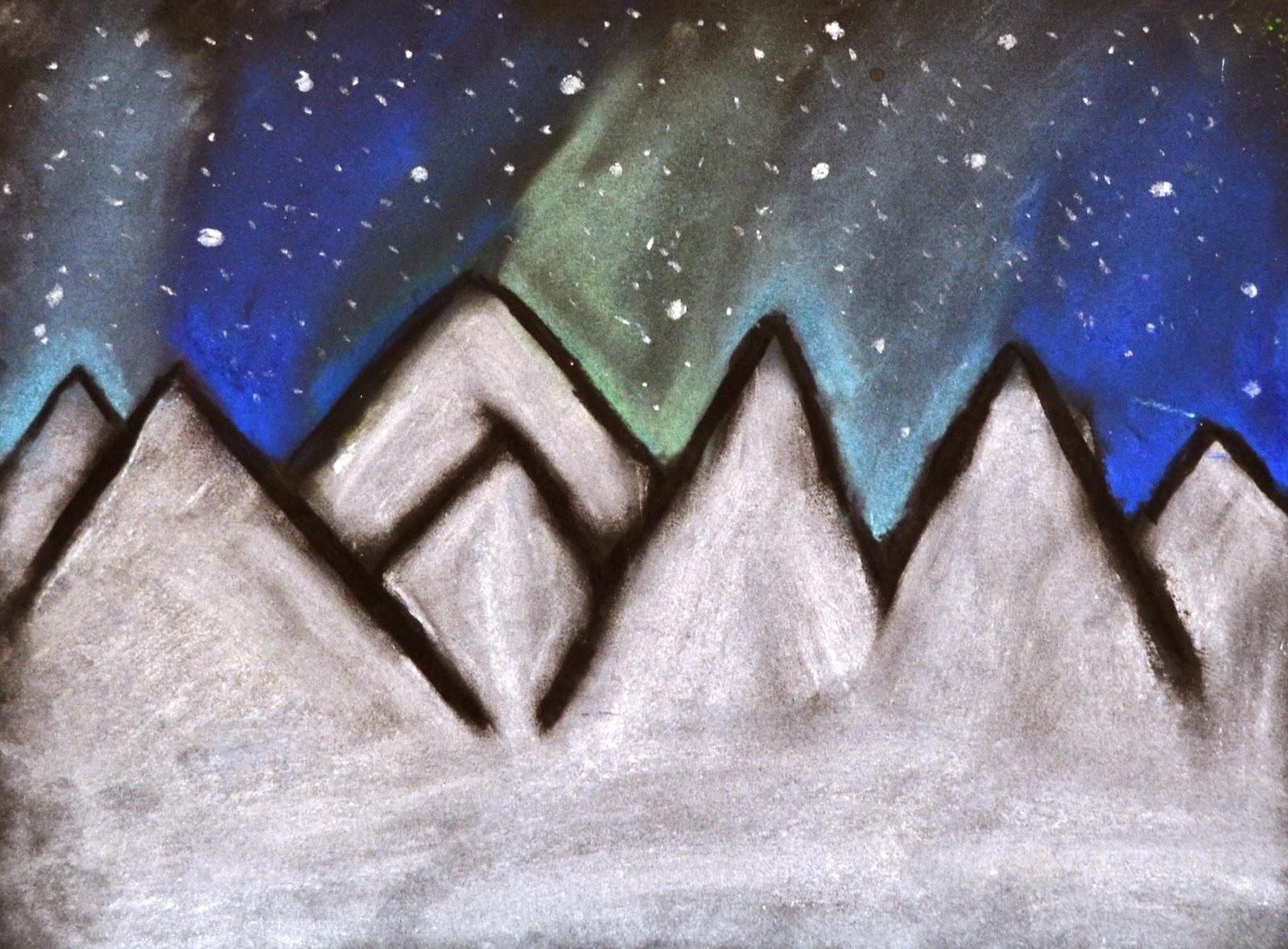 6th Grade Northern Lights Drawings