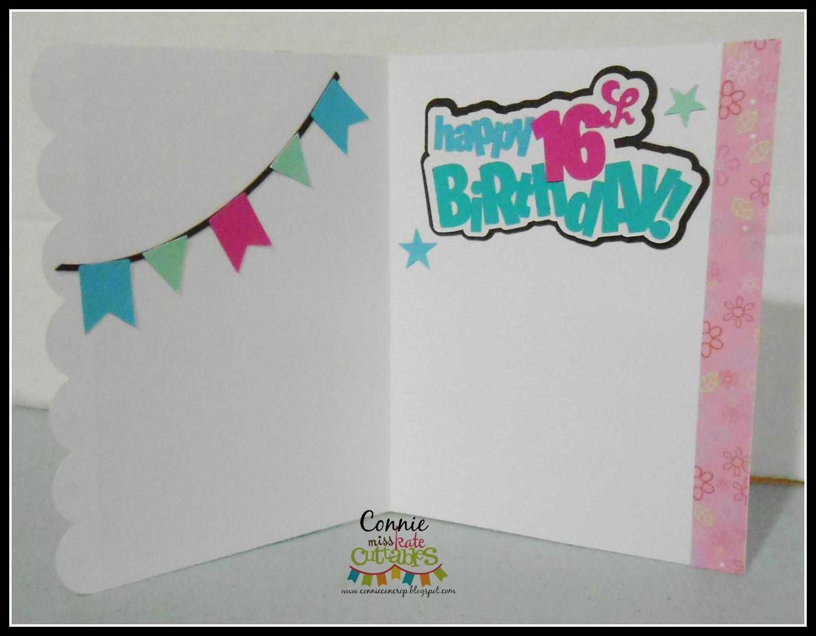 Miss Kate Cuttables Sweet 16 Birthday Card
