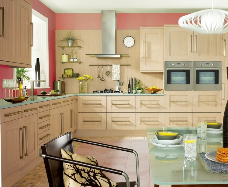 Contrasting kitchen wall colors 15 cool color ideas - Kuchenmobel modern ...
