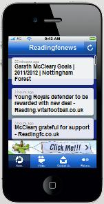 Click on Photo to The Reading FC App