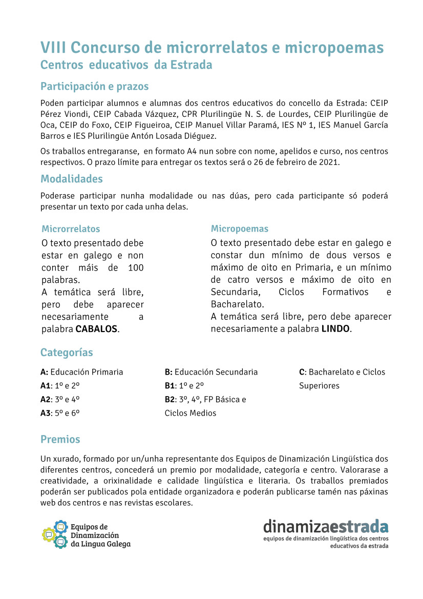 CARTEL VIII CONCURSO LITERARIO