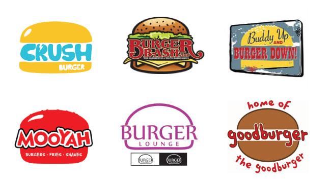creative fuel names logos and burger buns