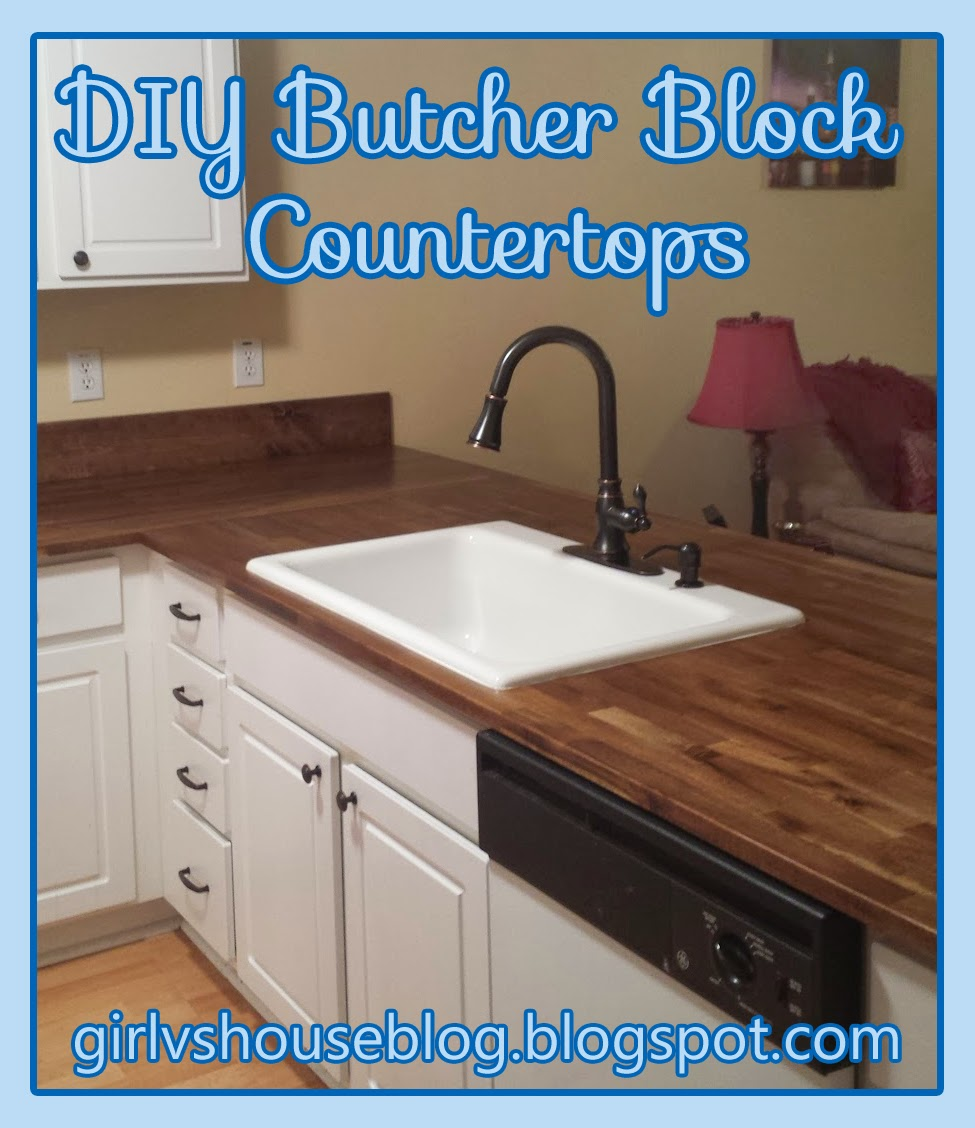 girl vs house butcher block countertops part 2 updated
