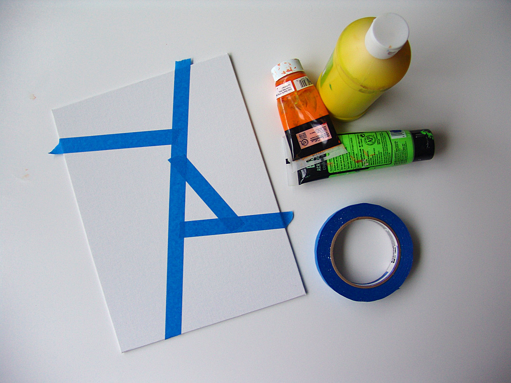 Cool stuff art gallery tape painting project for Cool things to paint