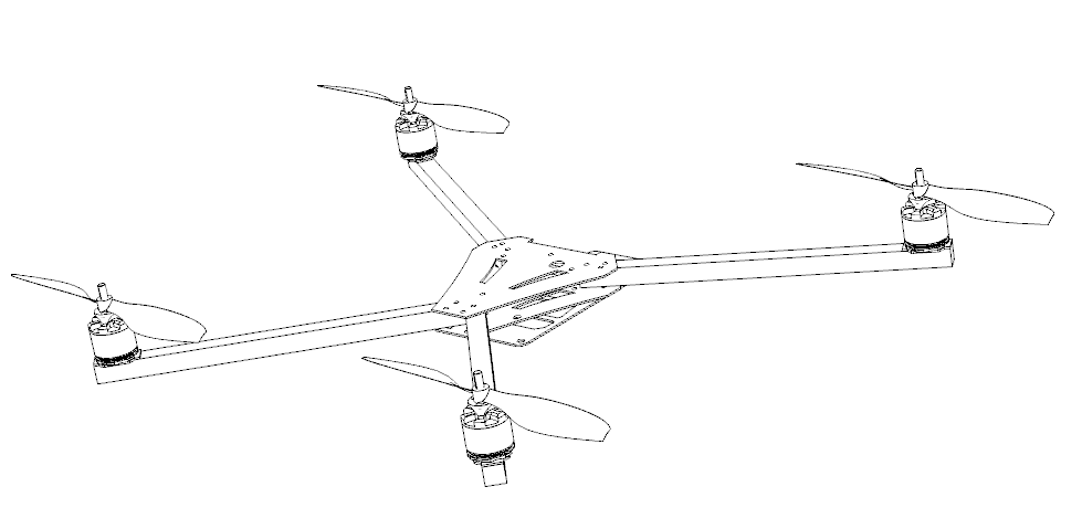 asymmetrical quadcopter v1 0