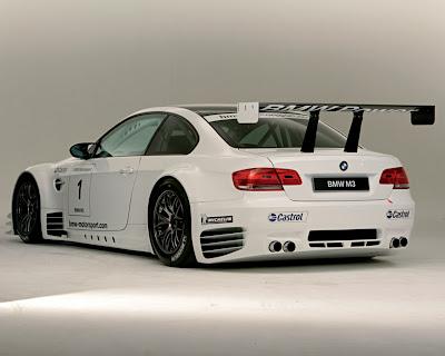 White 2008 BMW M3 Race Version