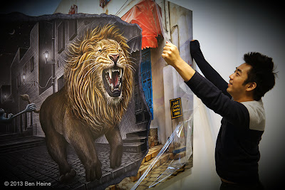 Ben Heine Art Exhibition - Pencil Vs Camera 63 - Mighty Lion