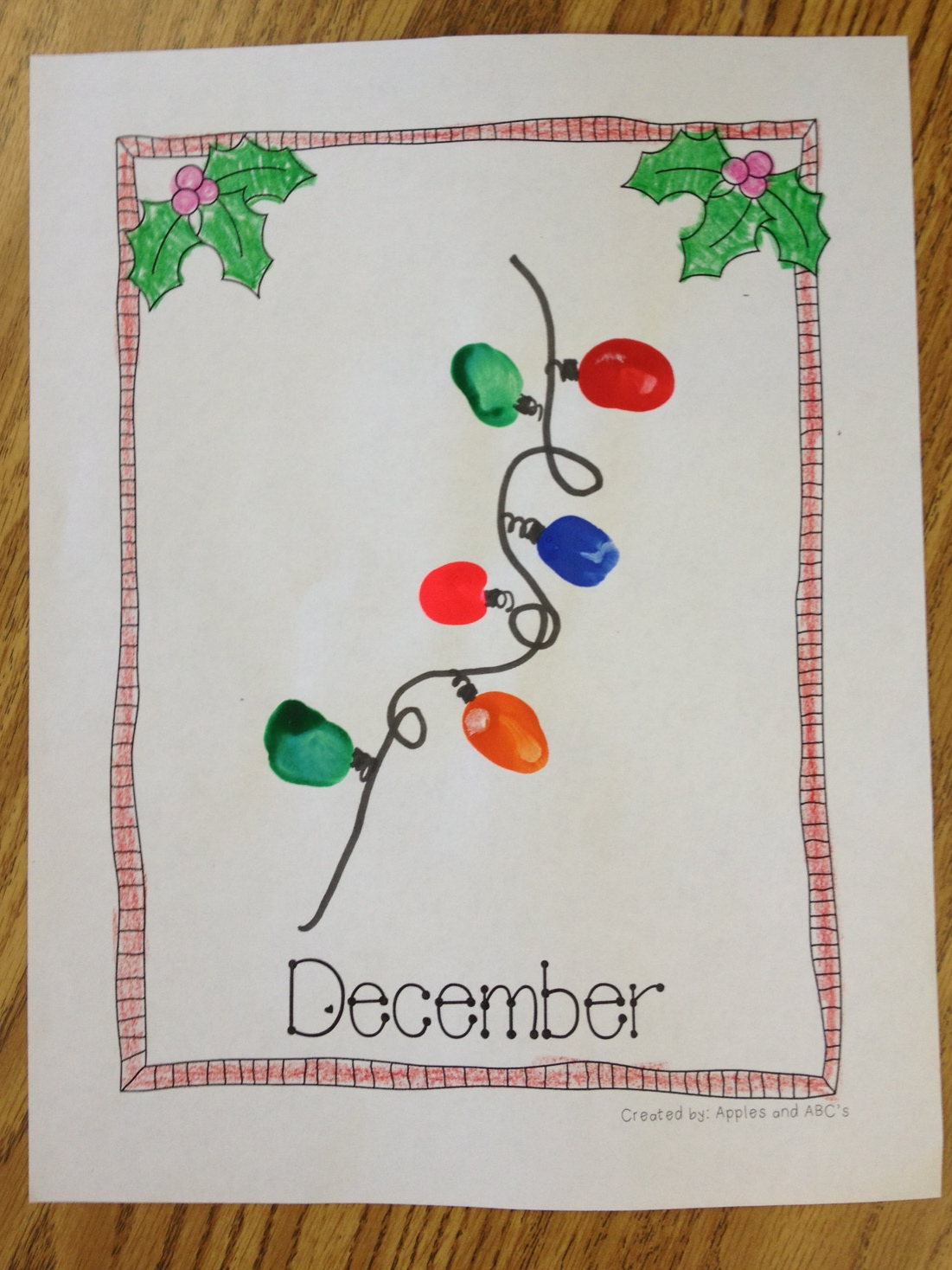 Preschool Xmas Calendar Ideas : Handprint art templates apples and abc s