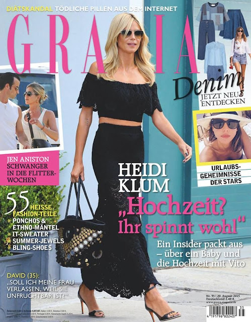 Actress, Model @ Heidi Klum - Grazia Germany, August 2015