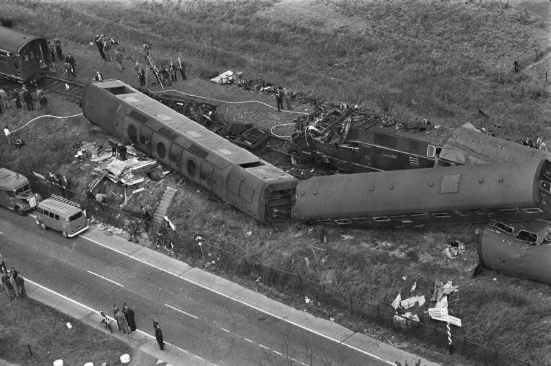 Treinramp Arnhem Westervoort 1964