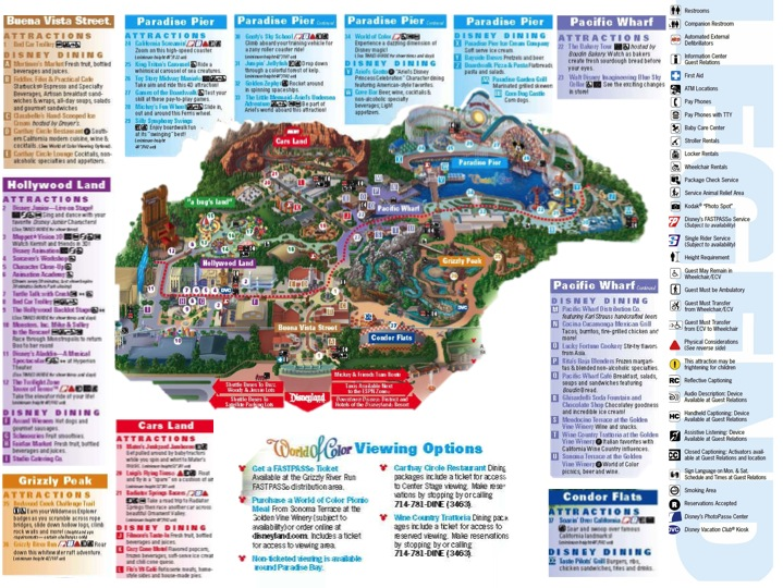 Printable Disneyland Map 2015 | New Calendar Template Site