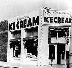 First store of Baskin Robbins: Snowbird Ice Cream, Glendale, California.