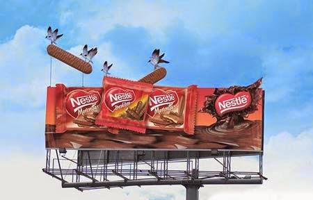 quảng cáo ngoài trời của hãng thực phẩm Nestle