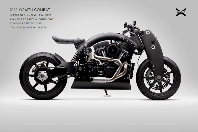 Confederate R135 Wraith Combat is another limited edition mechanical art from Confederate Motorcycles, only 7 Confederate R135 Wraith Combat motorcycles will be built,