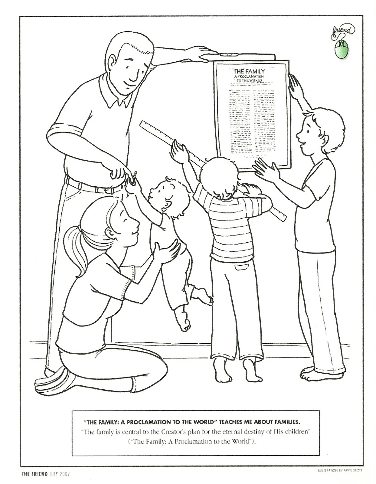 Free coloring pages of family family members