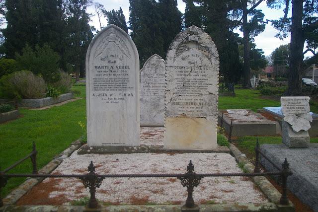 Nebel family plot at Thomastown formerly Westgarthtown Lutheran cemetery