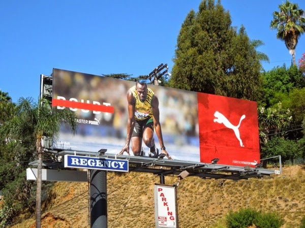 No doubt Usain Bolt Puma Forever Faster billboard