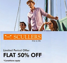Deep Discount Offer: Flat 50% Off + Extra 38% Off on Scullers Clothing @ Myntra (Hurry!! Limited Period Offer)