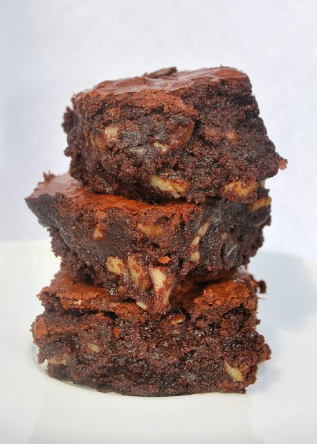 Scrumpdillyicious: Cocoa Brownies with Browned Butter & Walnuts