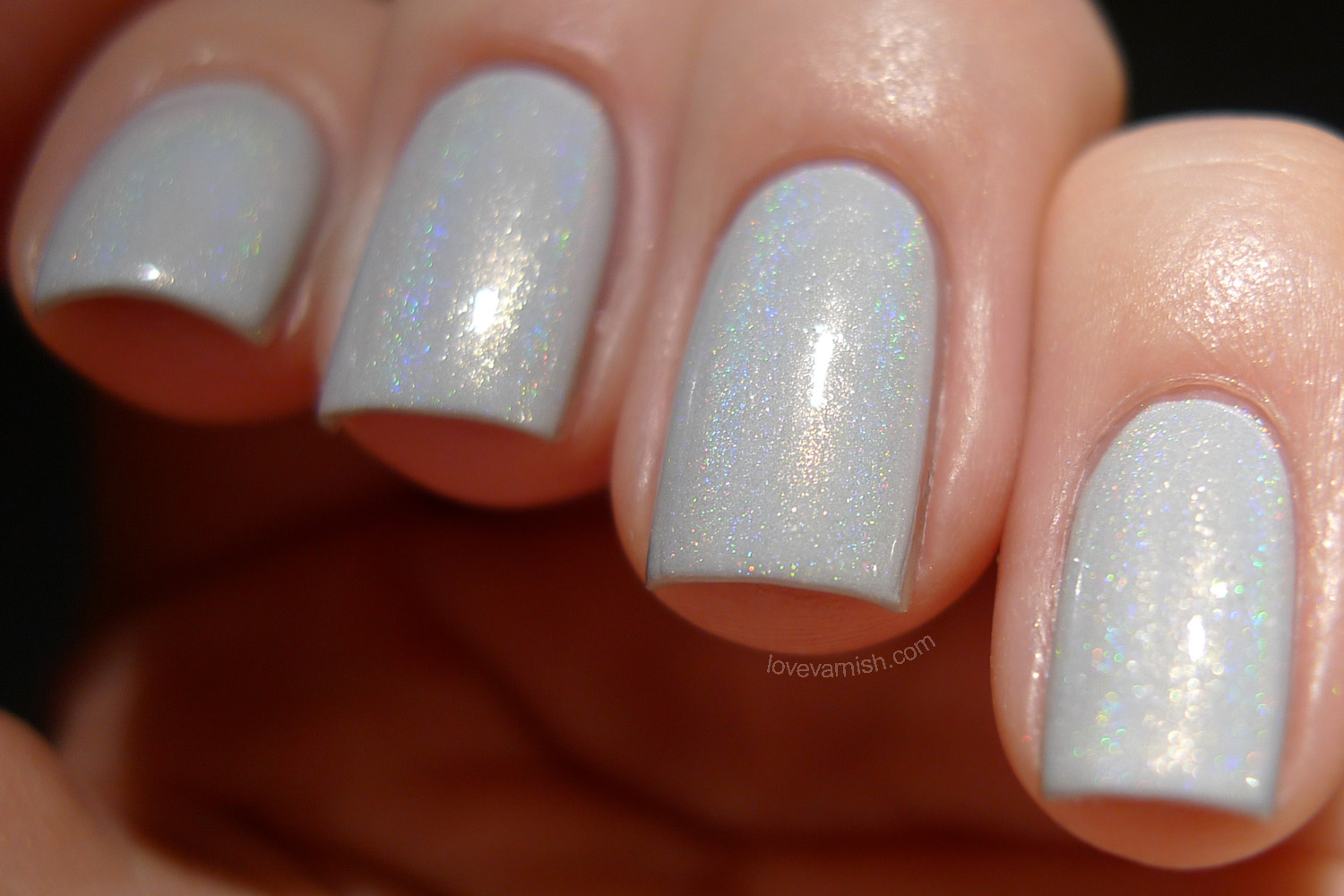 Too Fancy Lacquer What A Girl Wants white linear holographic polish