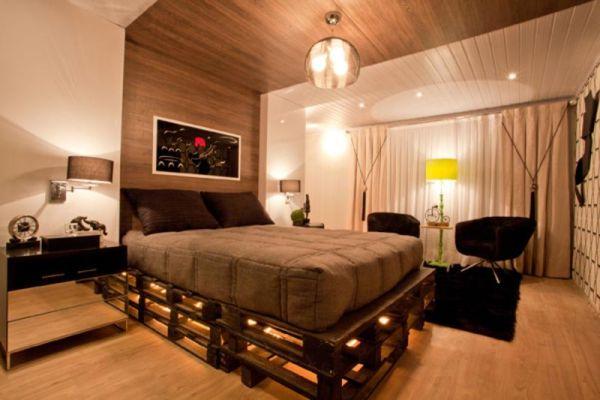Blog de decorar 20 camas feitas do maravilhoso pallet for Palets reciclados iluminados