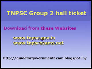 Download TNPSC Group 2 Hall Ticket 2013