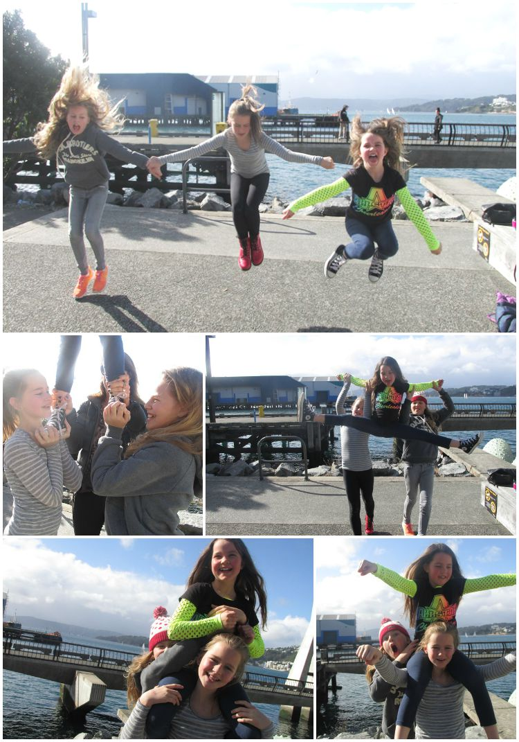 Waterfront cheerleading