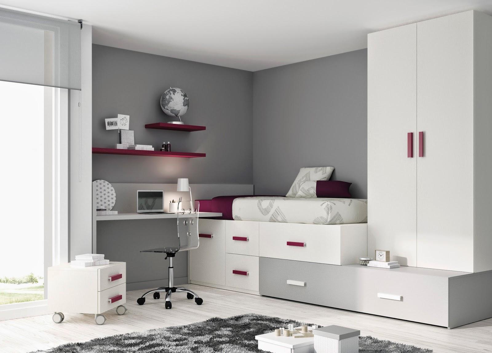 camerette per ragazzi con blocks di mobili ros - - Camerette Per Giovani
