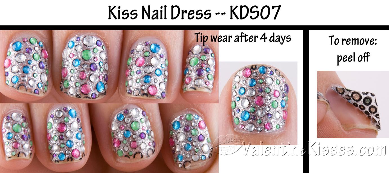 Valentine Kisses: Kiss Nail Dress - design KDS07 - pics, swatches ...