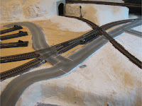 Model road build with Woodland Scenics Smooth-It