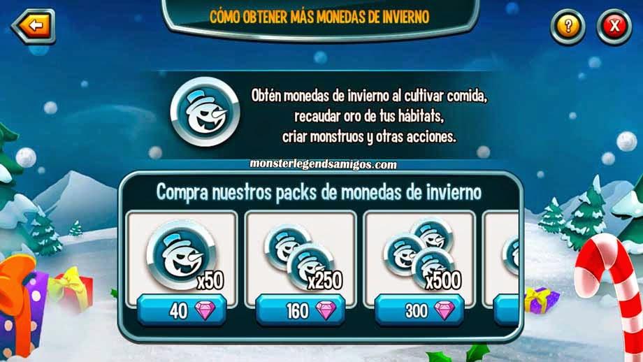 imagen de comprar monedas de estacion de la isla navidad de monster legends