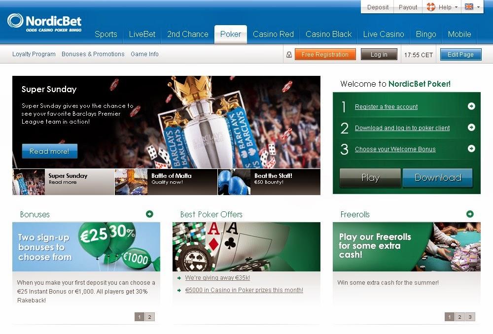 Nordicbet Poker Screen